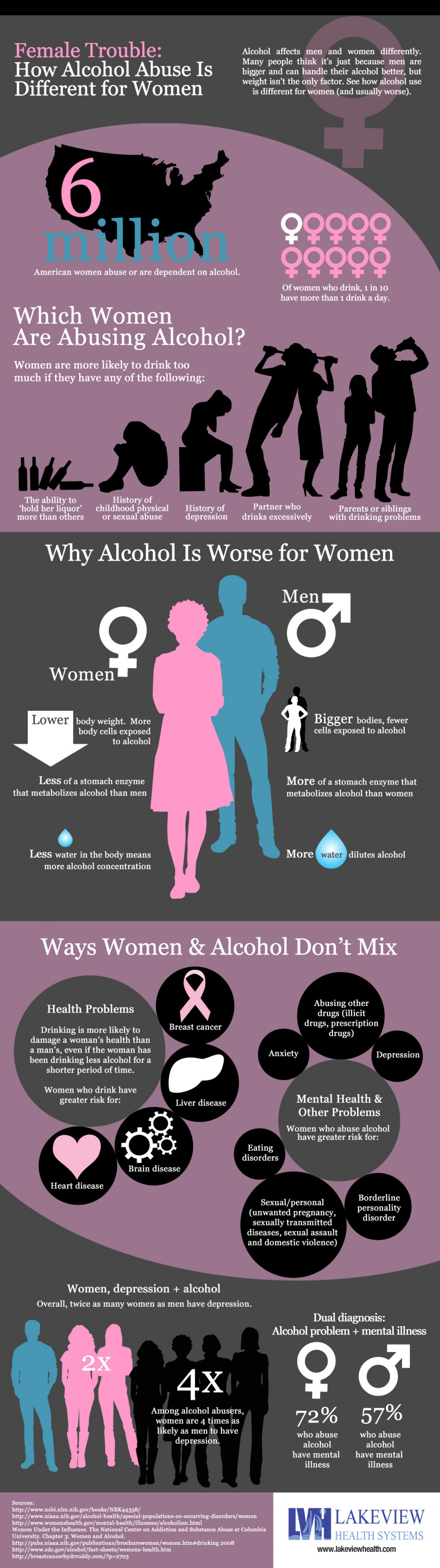Women and Alcohol Abuse Infographic