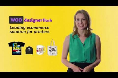 WOOdesigner Flash - leading web2print ecommerce solution for selling personalized products  Infographic