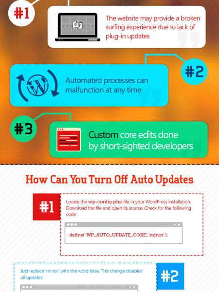 WordPress Auto Update Cheat Sheet [INFOGRAPHIC] Infographic