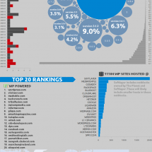 WordPress Popular Sites Analysis Infographic
