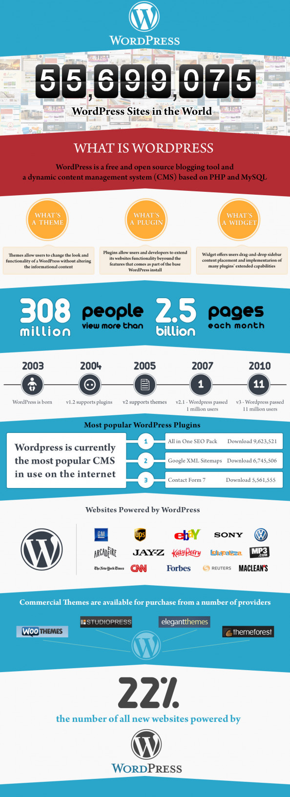 Wordpress stats Infographic