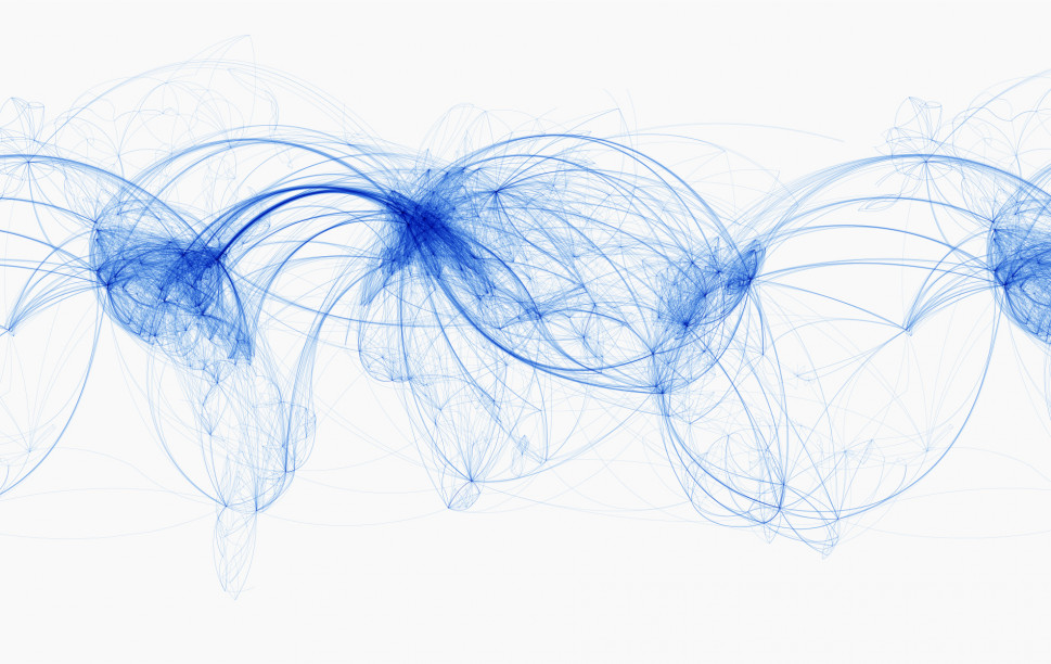 World Airline Routes Map Infographic