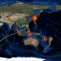 World Earthquakes 2011 Visualization Map Infographic