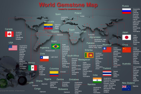 World Gemstone Mines Infographic