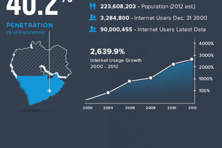 World Internet Usage Statistics by Continent Infographic