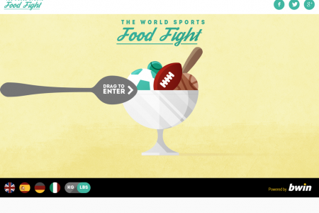 World Sports Food Fight Infographic