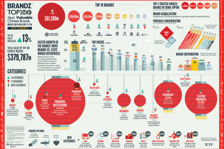 WPP BrandZ Top 100 Most Valuable Chinese Brands Infographic