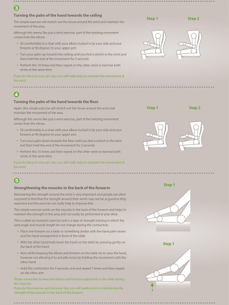 Wrist Stretching and Strengthening Exercises: Occupational Physiotherapy - Physio Med  Infographic