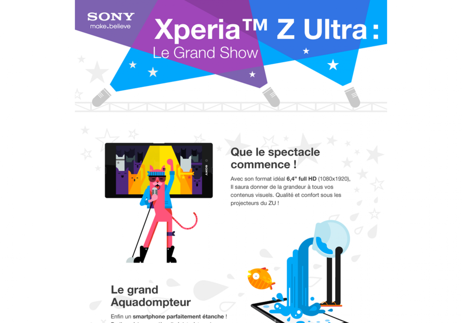 Xperia Z Ultra : Le Grand Show Infographic
