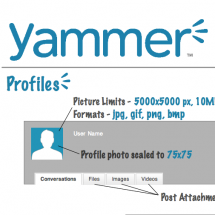 Yammer Sizing Cheat Sheet Infographic