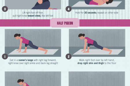 Yoga Poses for Happy and Healthy Hips Infographic