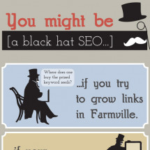 You might be a black hat SEO if... Infographic