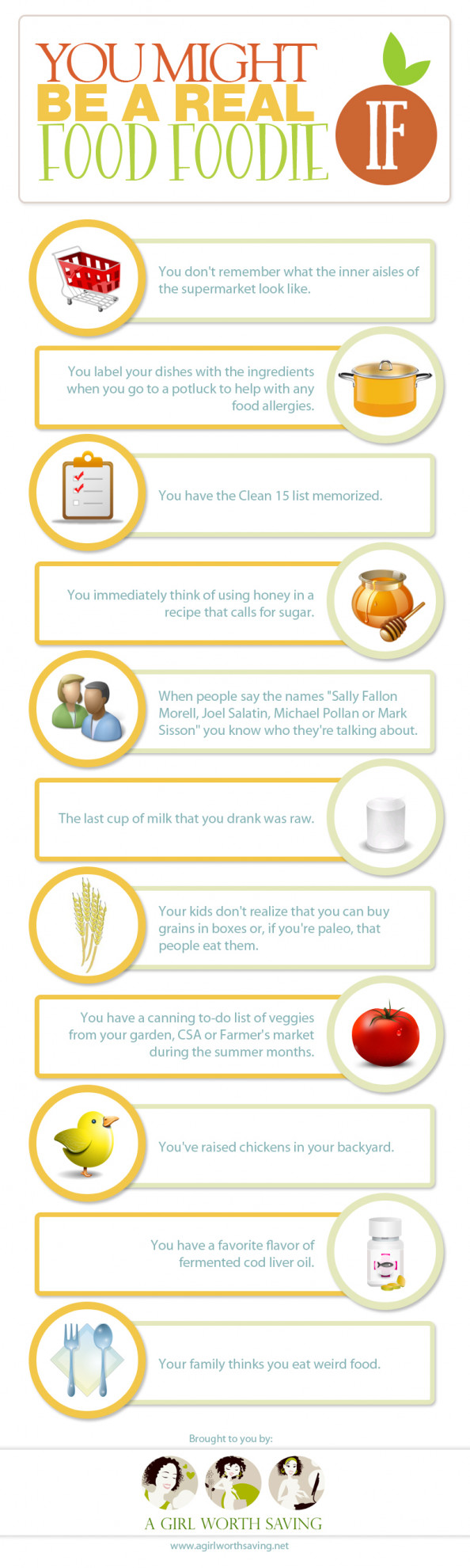 You might be a Real Food Foodie If Infographic