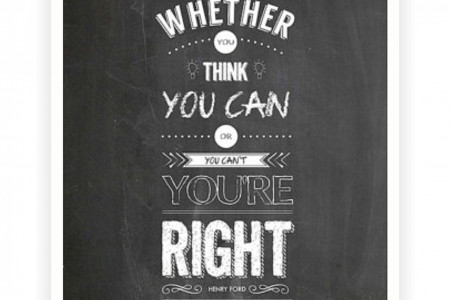 You Think You Can - Henry Ford Inspirational Quotes Poster Infographic