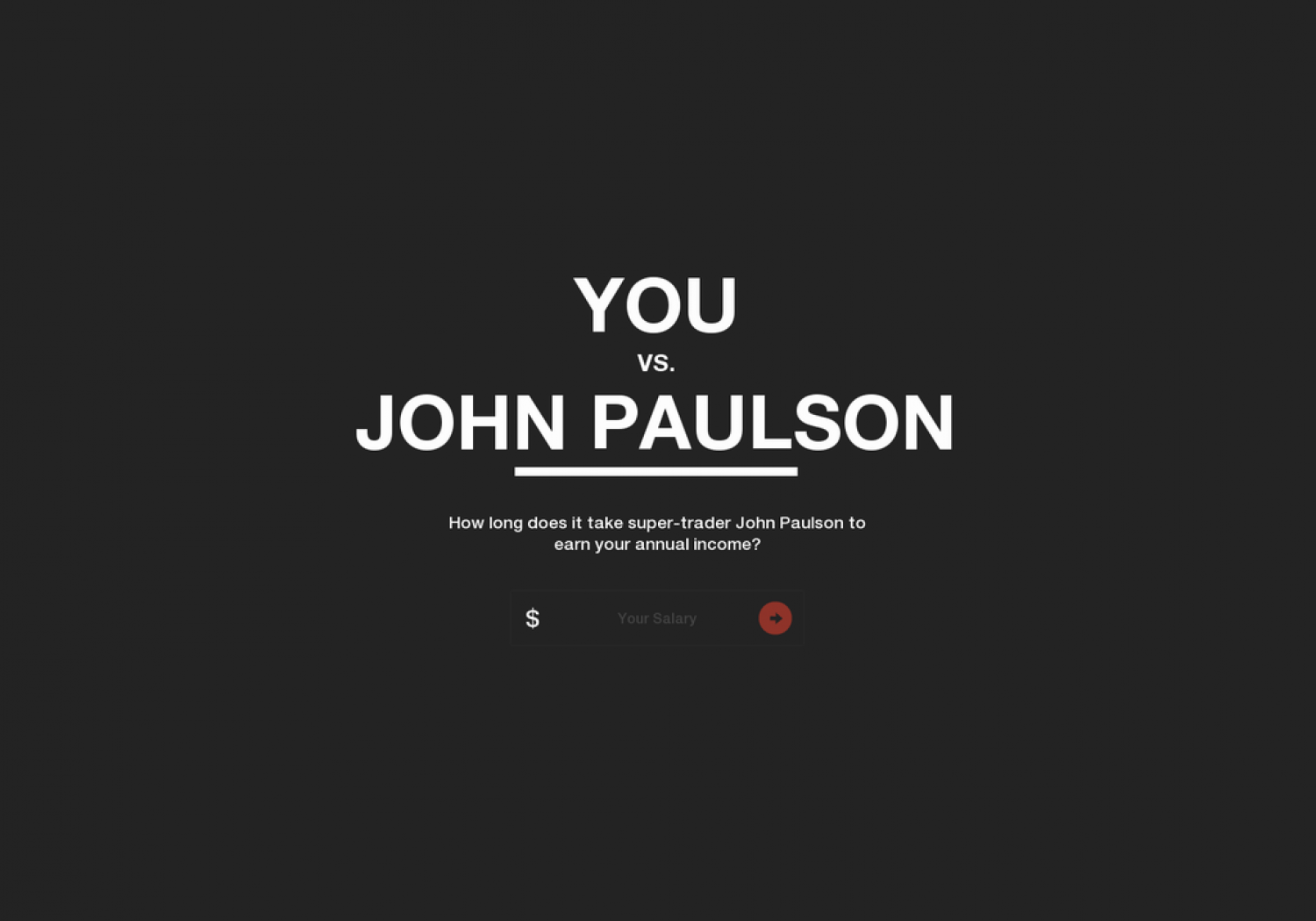 You vs John Paulson Infographic