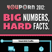 Youporn 2012: Big Numbers, Hard Facts. Infographic