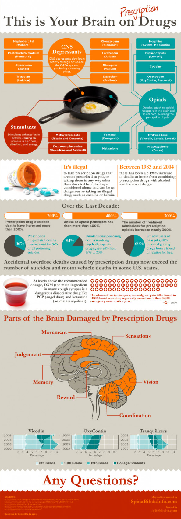Your Brain on Prescription Drugs Infographic