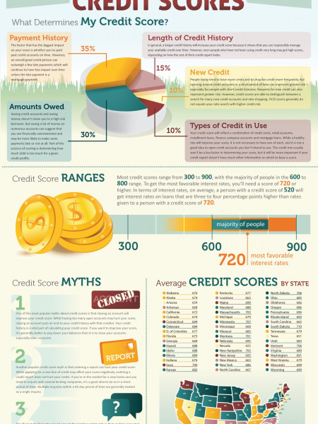 Your Credit Score Demystified Infographic
