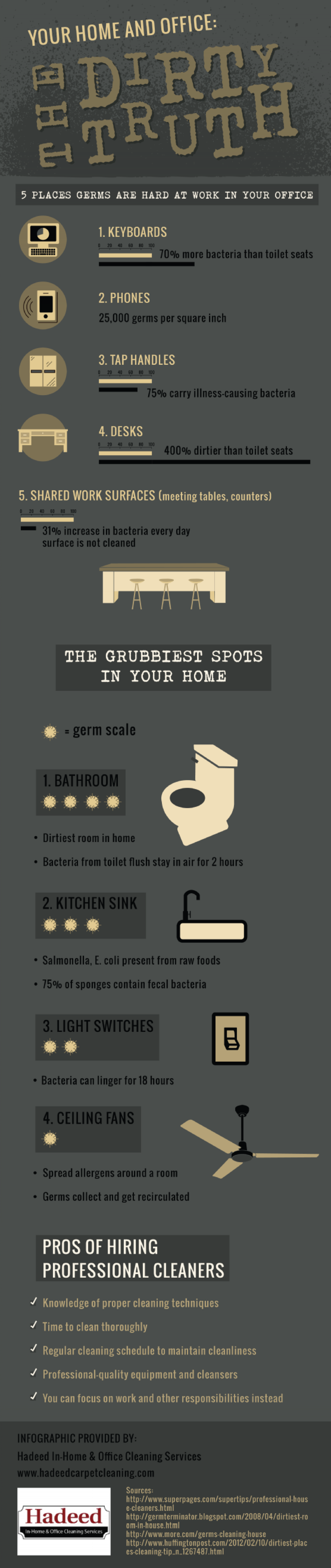 Your Home and Office: The Dirty Truth Infographic