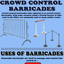 Your source for Classic Crowd Control Barriers! Infographic