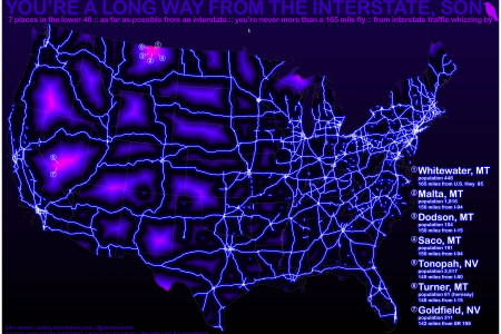 You're a Long Way From the Interstate Infographic