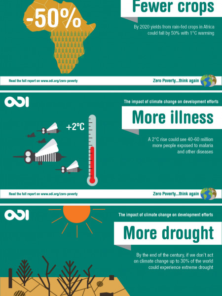 The Impact of Climate Change on Development Efforts Infographic