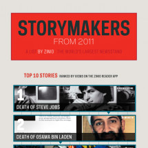 Zinio Reads: Storymakers From 2011  Infographic