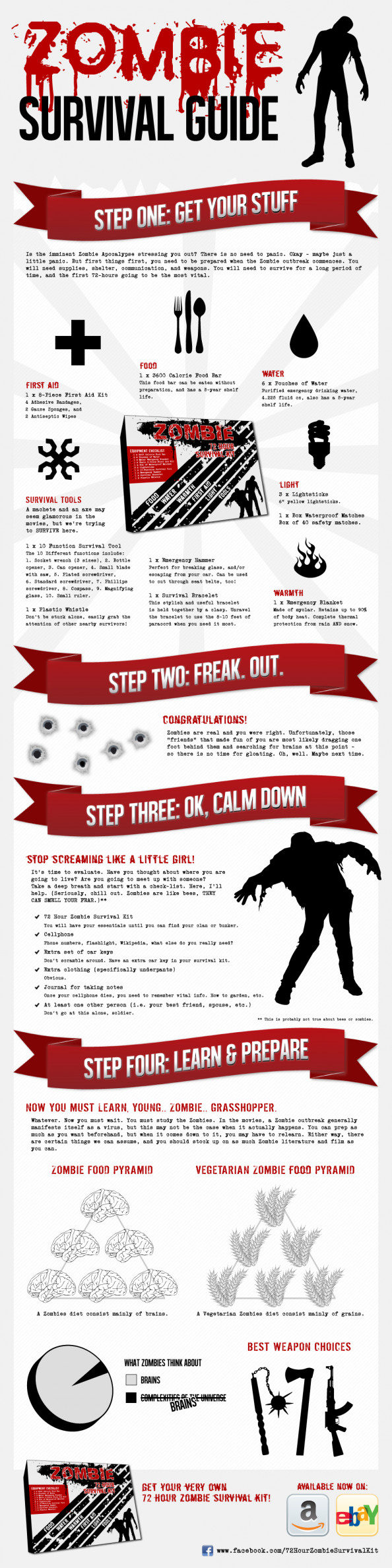 Zombie Survival Guide Infographic